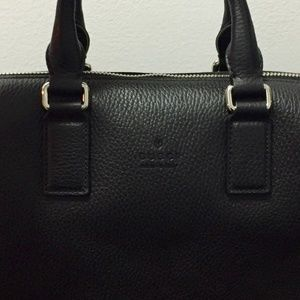 GUCCI Leather Business Briefcase Bag! NEVER USED!